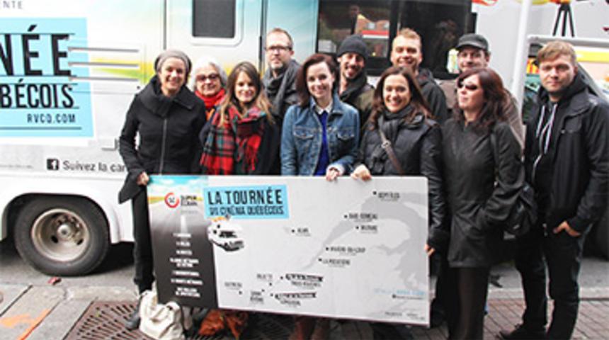 La caravane de la Tournée du cinéma québécois a débuté son périple